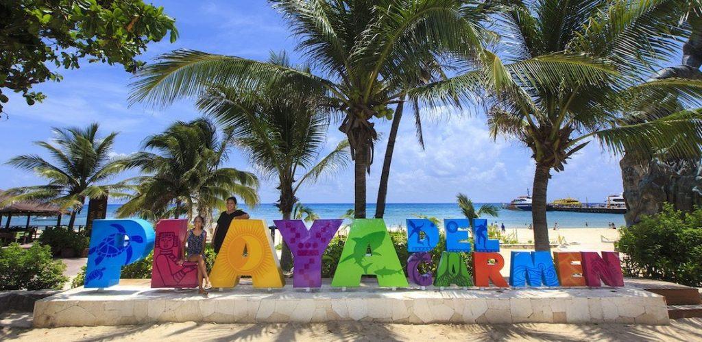 La foto obligada en Playa del Carmen
