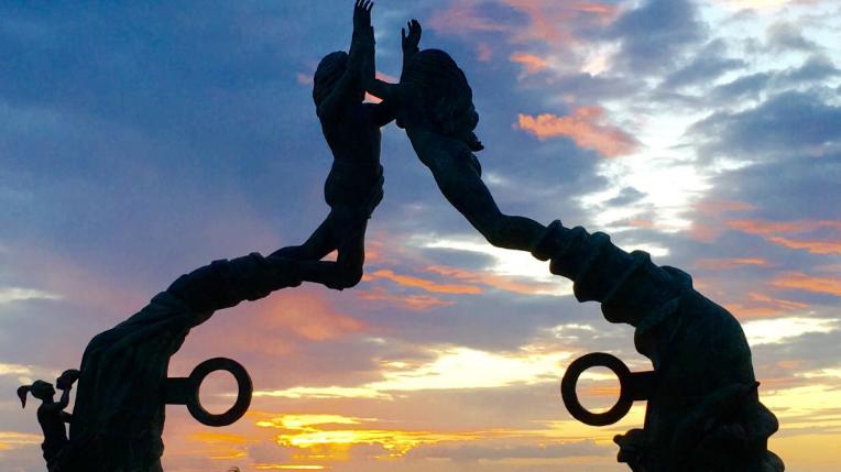 Estatua del Portal Maya de Playa del Carmen
