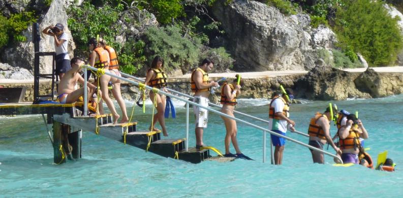 Haz Snorkel en Parque Garrafon Isla Mujeres