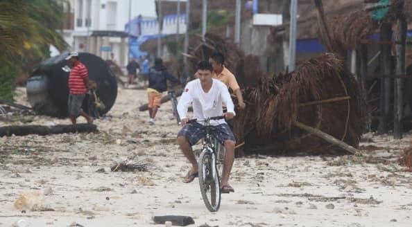 Una ciudad golpeada por los huracanes