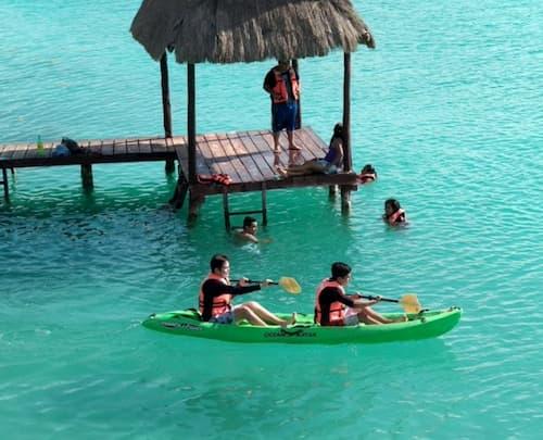 Visita el Balneario laguna xul-ha
