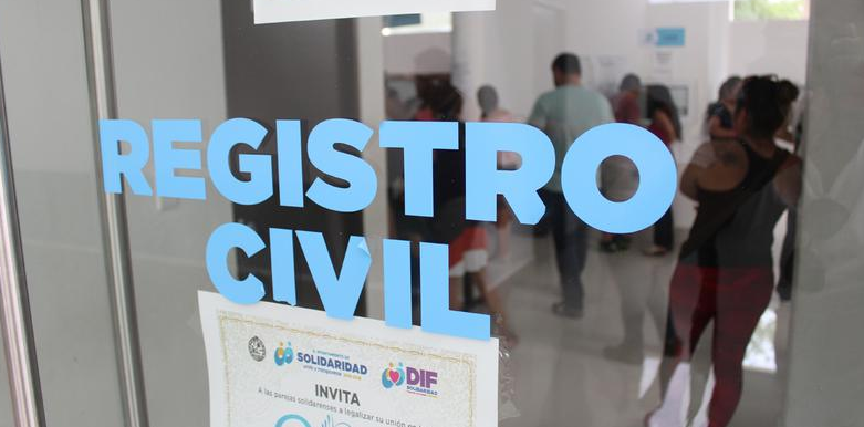 Registro civil en Playa del Carmen