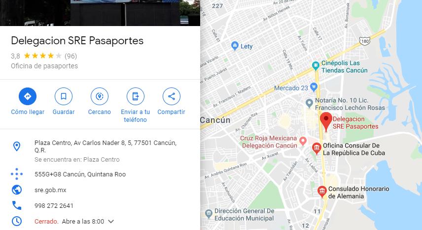 Pide cita pasaporte mexicano cancun